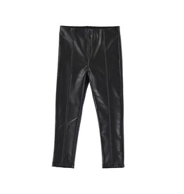 Mayoral Synthetic Leather Leggings Black
