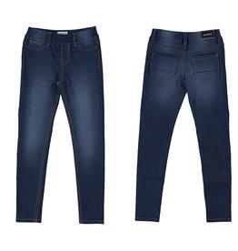 Mayoral Girls Basic Denim Pants Dark