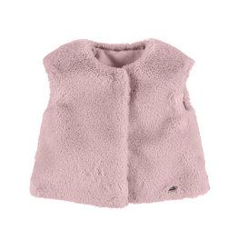 Mayoral Faux Fur Vest Rose
