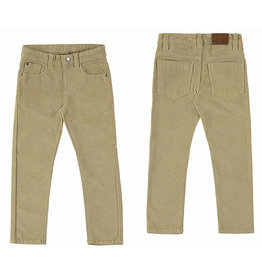Mayoral Basic Slim Fit Cord Trousers Brown