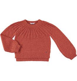 Mayoral Slub Sweater Brick Red