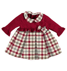 Mayoral Check Dress Red