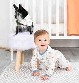 Magnificent Baby Howlarious Organic Cotton Magnetic Coverall