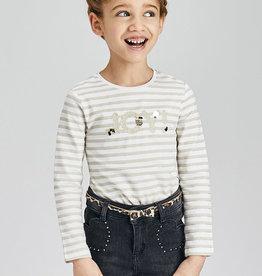 Mayoral LS Stripes T-Shirt Almond