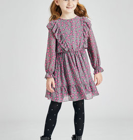 Mayoral Printed Dress Fuchsia