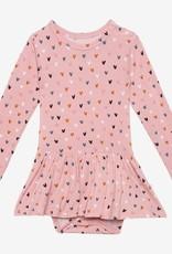 Posh Peanut Cassidy LS Basic Twirl Skirt Bodysuit