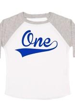 Sweet Wink 1st Birthday Boy LS Shirt White/Heather