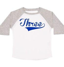 Sweet Wink 3rd Birthday Boy LS Shirt White/Heather
