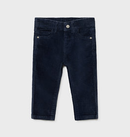 Mayoral Baby Basic Slim Fit Cord Trousers Blue