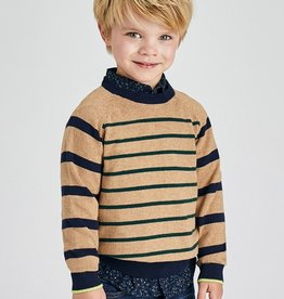Mayoral Stripes Sweater Toasted