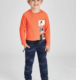 Mayoral Printed Knit Pants Indigo