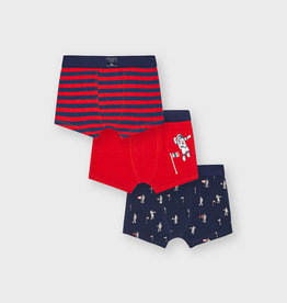 Mayoral 3pc Boxers Set Space Red
