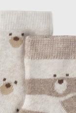 Mayoral 4pc Set Socks Brown Vigo