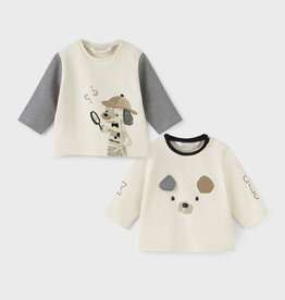 Mayoral 2 LS T-Shirt Set Bone