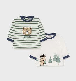 Mayoral 2 LS T-Shirt Set Eucalyptus