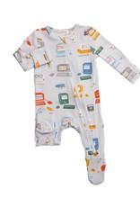 Angel Dear Baby Computer Zipper Footie Grey