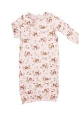 Angel Dear Woodland Animals Kimono Gown Pink 0/3M