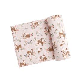 Angel Dear Woodland Animals Swaddle Blanket Pink 45 x 45