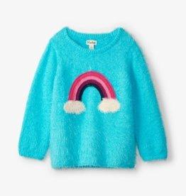 Hatley Rainbow Fuzzy Graphic Sweater