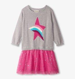 Hatley Rainbow Star Drop Waist Tulle Dress