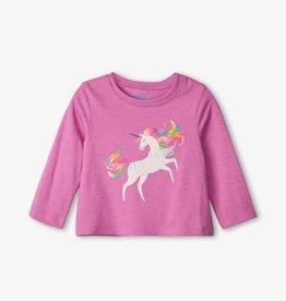 Hatley Prancing Unicorn LS Baby Tee