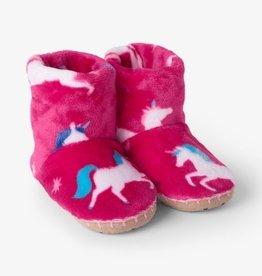 Hatley Twinkle Unicorns Fleece Slippers