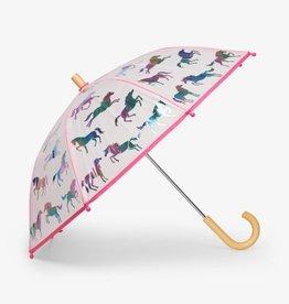 Hatley Rainbow Horses Clear Umbrella