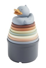 Mud Pie Blue Stacking Cups Set