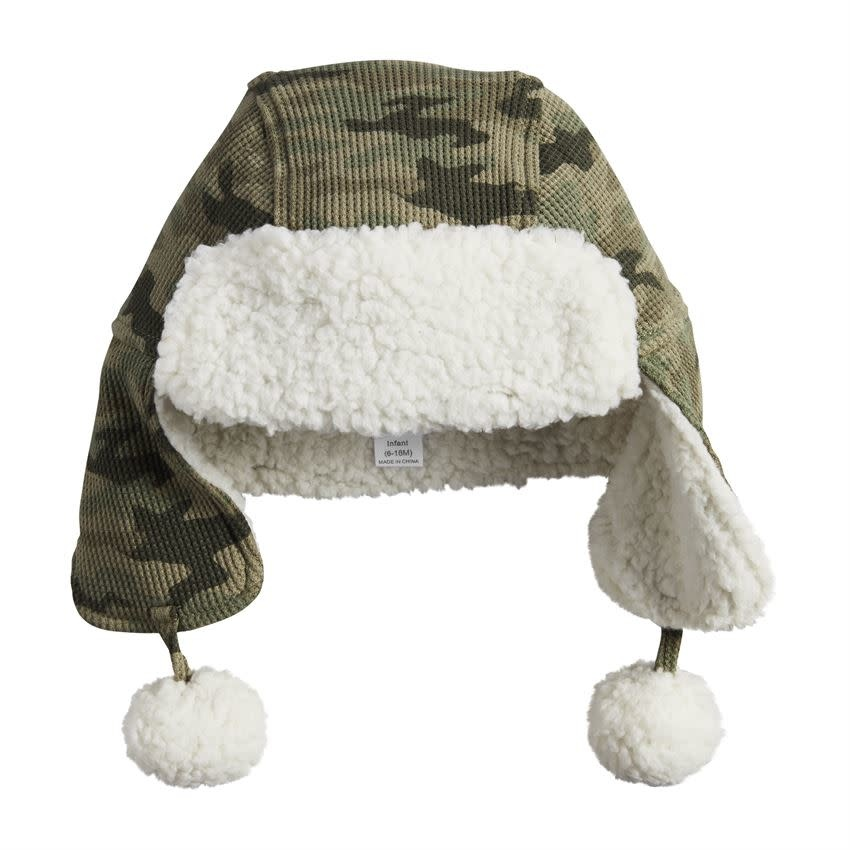 Mud Pie Camo Sherpa Hat TODDLER