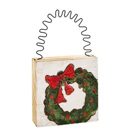 Mud Pie Wreath Painted Ornament