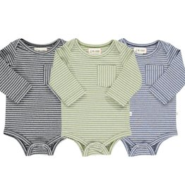 Me & Henry Tellico Triple Pack Onesies Double Stripe