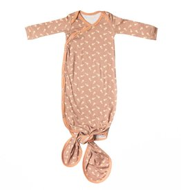 Copper Pearl Treat Newborn Knotted Gown