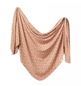 Copper Pearl Treat Knit Blanket Single