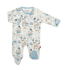 Magnificent Baby Northern Lights Organic Cotton Magnetic Footie