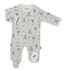 Magnificent Baby Perfect Sunday Organic Cotton Magnetic Footie