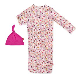 Magnificent Baby Heart to Heart Modal Magnetic Sack & Hat NB/3M