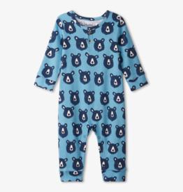 Hatley Blue Bears Baby Henley Romper