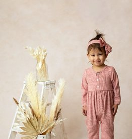 Mabel & Honey Peppermint Brittle Knit Romper Red