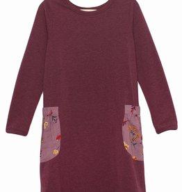 Mabel & Honey Fall Bloom Knit Dress Purple