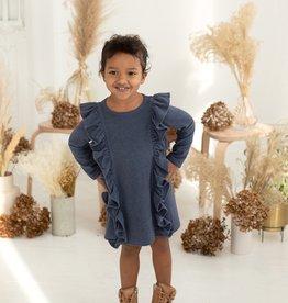 Mabel & Honey Ocean Waves Knit Dress Blue