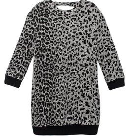 Mabel & Honey Run Wild Knit Sweater Dress Grey