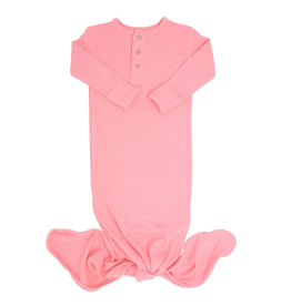 Sweet Bamboo Knotted Gown Geranium Pink Ribbed