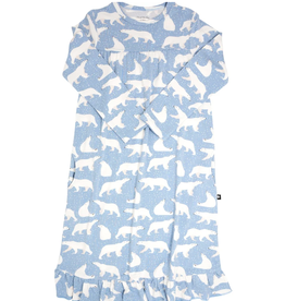 Sweet Bamboo Boho Dress Polar Bear Blue