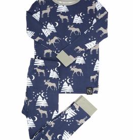 Sweet Bamboo LS PJ Set Moose