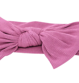 Sweet Bamboo Baby Bow Mellow Mauve Ribbed