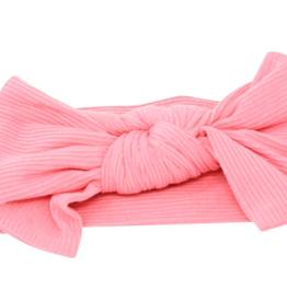 Sweet Bamboo Baby Bow Geranium Pink Ribbed