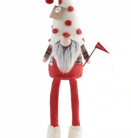 Mud Pie Flag Christmas Dangle Leg Gnome