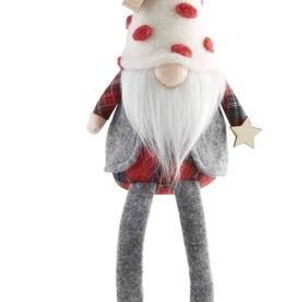 Mud Pie Vest Christmas Dangle Leg Gnome