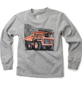 Wes And Willy Dump Truck LS Tee Heather
