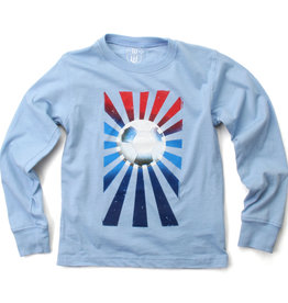 Wes And Willy Soccer Ball LS Tee NC Blue Blend